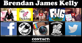 BRENDAN JAMES KELLY - OFFICIAL WEBSITE:  Site designed by Epod for cartoonist, comedian, writer, author Brendan James Kelly