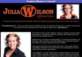 JULIA WILSON - OFFICIAL WEBSITE: Designed by Epod for international comedian, Julia Wilson