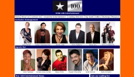 STAR 100 ENTERTAINMENT OFFICIAL WEBSITE: Site designed by Epod for talent agency Star 100 Entertainment.
